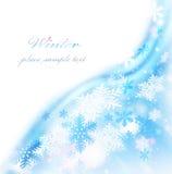 Abstract snowflake border Stock Photo
