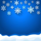 Abstract snowflake christmas background Royalty Free Stock Images