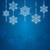 Abstract snowflake. Christmas background. New Year card. Stock Photography