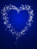 Abstract snowflake and hearts shape Royalty Free Stock Photography