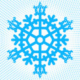 Abstract snowflake icon Royalty Free Stock Image