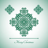 Abstract snowflake with Merry Christmas sign Stock Image
