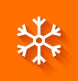 Abstract snowflake on orange background Stock Photo