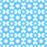 Abstract snowflake puzzled seamless pattern background Stock Photography