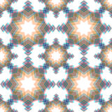 Abstract snowflake puzzled seamless pattern background Royalty Free Stock Photography