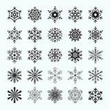 Abstract snowflake shapes Stock Photo