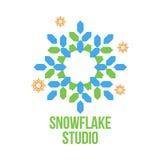 Abstract snowflake vector logo templates Stock Photography