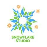 Abstract snowflake vector logo templates Royalty Free Stock Image