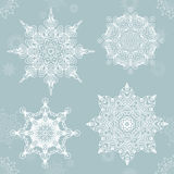 Abstract snowflake. Vector Mandala for christmas. Graphic template for your design. Royalty Free Stock Image