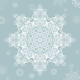 Abstract snowflake. Vector Mandala for christmas. Graphic template for your design. Stock Photo