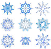 Abstract snowflakes Royalty Free Stock Photo