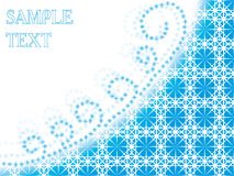 Abstract snowflakes background. Cristmas vector background with twirling snowflakes royalty free illustration