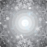 Abstract snowflakes background Royalty Free Stock Photos
