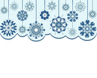 Abstract snowflakes background Stock Photos