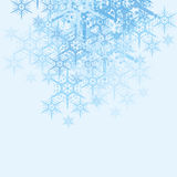 Abstract Snowflakes Background. Abstract christmas background wallpaper with snowflakes Royalty Free Stock Images