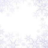 Abstract Snowflakes Background. Light christmas background wallpaper with snowflakes Royalty Free Stock Image