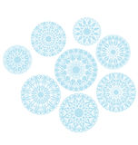 Abstract snowflakes background. vector illustration Royalty Free Stock Photo
