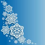 Abstract  Snowflakes Design Vector  Christmas Background Royalty Free Stock Photography