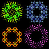 Abstract snowflakes. Stock Images