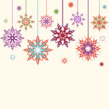 Abstract snowflakes, flowers background royalty free stock image