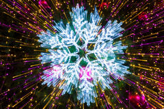 Abstract snowflakes Lighting effects stock photos