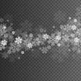 Abstract Snowflakes Overlay Effect. On Transparent Background for Christmas and New Year Design. Vector Illustration Royalty Free Stock Image