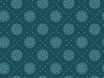 Abstract snowflakes plaid seamless pattern. Christmas festive textile vector illustration. Repeatable motif for  wrapping paper, fabric, background Stock Images
