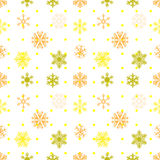 Abstract snowflakes seamless background. Vector EPS 10 Stock Images