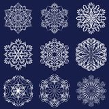 Abstract snowflakes set Royalty Free Stock Photography