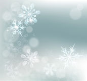 Abstract Snowflakes Snow Background Stock Photo
