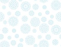 Abstract snowflakes vector background. Royalty Free Stock Image