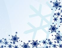 Abstract snowflakes Stock Photography