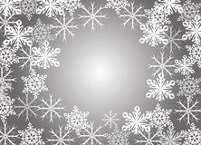 Abstract snowflakes Stock Image