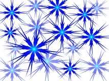 Blue snowflakes on a white background. Vector image. Stock Image