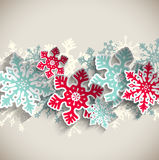 Abstract snowflakes, winter concept, illustration Royalty Free Stock Image