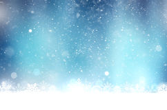 Abstract snowing background Stock Image