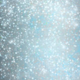 Abstract snowy background with snowflakes, stars Royalty Free Stock Photography