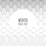 Abstract snowy forest design with text box for your content Royalty Free Stock Photos
