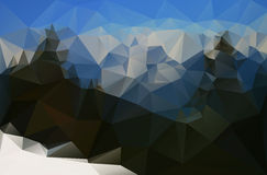 Abstract snowy mountain landscape Royalty Free Stock Photos