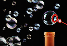 Abstract soap bubble background Stock Image