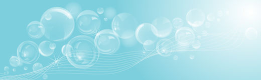 Abstract soap bubbles background. Stock Image