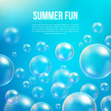 Abstract soap bubbles vector background Royalty Free Stock Photography