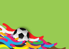 Abstract soccer backgound template. Abstract soccer background. soccer with colorful stripe wave meaning is `the sport for everyone stock illustration