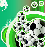 Abstract soccer background. Stock Images