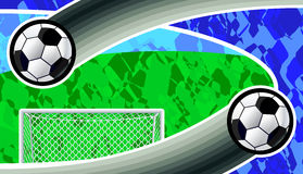 Abstract soccer background. Stock Photo