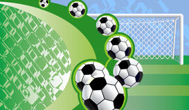 Abstract soccer background. Royalty Free Stock Images