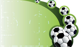 Abstract soccer background. Stock Image