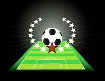 Abstract soccer background. Royalty Free Stock Photos