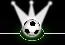 Abstract soccer background Stock Images