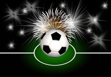 Abstract soccer background Royalty Free Stock Image